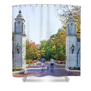 Sample Gates At University Of Indiana Shower Curtain