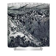Samson Destroys The Philistines With An Ass Jawbone Shower Curtain