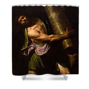 Samson In The Temple Shower Curtain