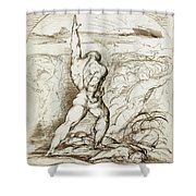 Samson Slaying The Philistines With The Jawbone Of An Ass Shower Curtain