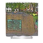 Samuel Adams Gravestone At Granary Burying Ground In  Boston-massachusetts Shower Curtain