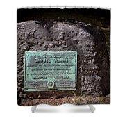 12- Samuel Adams Tombstone In Granary Burying Ground Eckfoto Boston Freedom Trail Shower Curtain