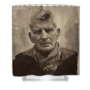 Samuel Beckett 2 Shower Curtain