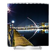 Samuel Beckett Bridge 2 Shower Curtain