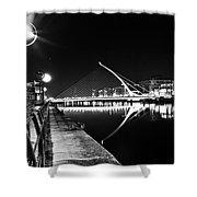 Samuel Beckett Bridge 2 Bw Shower Curtain