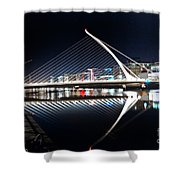 Samuel Beckett Bridge 3 V2 Shower Curtain
