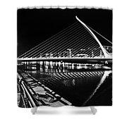 Samuel Beckett Bridge 5 Bw Shower Curtain