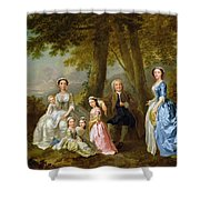Samuel Richardson Seated With His Family Shower Curtain