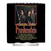 Samurai Johnny Frankenstein Shower Curtain by The Scott Shaw Poster Gallery