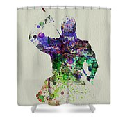 Samurai Shower Curtain by Naxart Studio