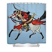 Samurai Rider Shower Curtain