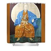 Samurai-san -- Portrait Of Japanese Warrior Shower Curtain