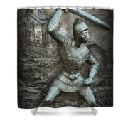 Samurai Warrior Shower Curtain