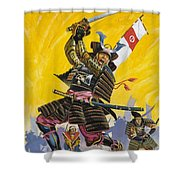 Samurai Warriors Shower Curtain