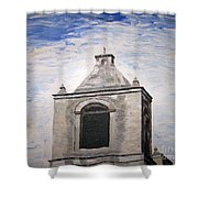 San Antonio Belltower Shower Curtain by Kevin Croitz