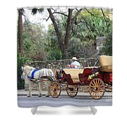 San Antonio Carriage Shower Curtain