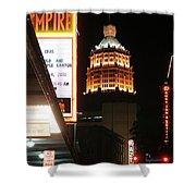 San Antonio Downtown Night Shower Curtain