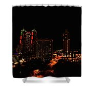 San Antonio Night Shower Curtain