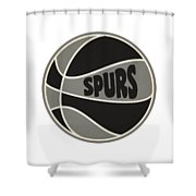 San Antonio Spurs Retro Shirt Shower Curtain