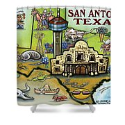 San Antonio Texas Shower Curtain