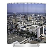 San Antonio Texas Skyline Shower Curtain