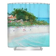 San Clemente Beach Panorama Shower Curtain