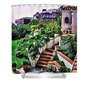 San Clemente Estate Backyard Shower Curtain