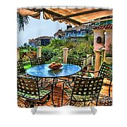 San Clemente Estate Patio Shower Curtain