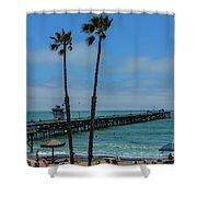 San Clemente Peir Shower Curtain