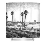 San Clemente Pier California Shower Curtain
