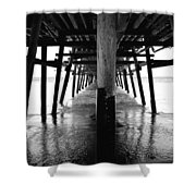 San Clemente Pier Shower Curtain