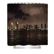 San Diego Evening Skyline Shower Curtain