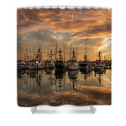 San Diego Fishing Fleet At Sunset Shower Curtain