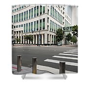 San Diego Hall Of Justice Shower Curtain