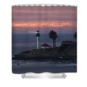 San Diego Lighthouse Shower Curtain