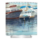San Diego Mission Bay Shower Curtain