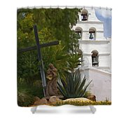San Diego Mission Bells Shower Curtain