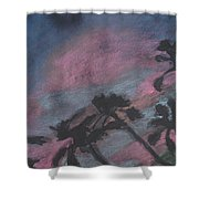 San Diego Palms Shower Curtain