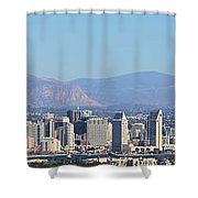 San Diego Pano Shower Curtain