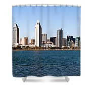 San Diego Panorama Shower Curtain