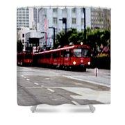 San Diego Red Trolley Shower Curtain