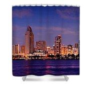 San Diego Skyline At Dusk Shower Curtain