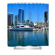San Diego South Park Marina Shower Curtain