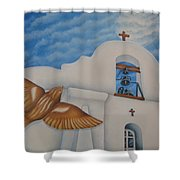 San Elizario On A Moonlit Morning Shower Curtain