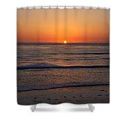 San Eljio Sunset Ca Shower Curtain
