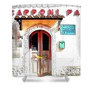 San Felice Circeo Door Of The School Shower Curtain