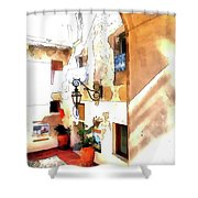 San Felice Circeo Foreshortening Shower Curtain