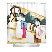 San Felice Circeo Put Clothes Shower Curtain