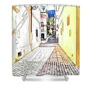 San Felice Circeo Street Shower Curtain
