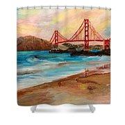 San Francisc Bridge Shower Curtain